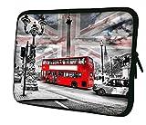 LUXBURG 14,2 Zoll Notebooktasche Laptoptasche Tasche aus Neopren Schutzhülle Sleeve für Laptop / Notebook Computer - Aussicht in London