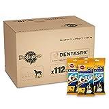 Pedigree DentaStix 1x Täglich Hundeleckerli für große Hunde, Kausnack mit Huhn- und Rindgeschmack gegen Zahnsteinbildung für gesunde Zähne, 1er pack (1 x...