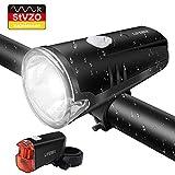 LIFEBEE LED Fahrradlicht, Batterie Fahrradbeleuchtung StVZO Zugelassen USB Frontlicht und Rücklicht Fahrradlampe Set, 2 Licht-Modi, Regenfest Fahrradlichter...