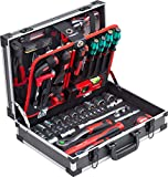 Meister Werkzeugkoffer 131-teilig - Mit Qualitätswerkzeug von Knipex & Wera - Stabiler Alu-Koffer / Profi Werkzeugkoffer befüllt / Werkzeugkiste / Werkzeugbox...