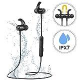 Bluetooth Kopfhörer In Ear, Mpow S10 IPX7 Wasserdicht Sport Kopfhörer, 8-9 Stunden Spielzeit/Dreiband-EQ/Mikrofon, Sportkopfhörer Joggen/Laufen/Fitness,...