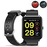 Evershop IP68 Smart Watch Fitness Tracker Armband mit 1,3 Zoll IPS Bildschirm zum Schwimmen Wasserdichter Uhr Aktivitätstracker mit Pulsmesser Kalorienzähler Schlafmonitor für Frauen Männer Kinder