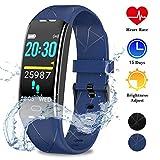 WOWGO Fitness Armband,GPS Aktivitätstracker IP68 Wasserdichtes Fitness Uhr mit Stoppuhr Infrarotsensor Pulsmesser Schlafmonitor Schrittzähler 7 Sportarten...