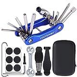 COZYROOMY Multi-Tool Fahrrad Reparatur Set - Fahrrad Werkzeug Set mit Fahrrad Multitool (mit Kettenwerkzeug) Und Reifenreparatur Werkzeug Fahrrad Tragbares...
