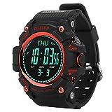 VBESTLIFE Wasserdichte Sport Smart Watch,Smart Uhr für Outdoor Klettern mit Barometer, Ortszeit, Wecker, Stoppuhr Kompass, Höhenmesser, Dual Time,...