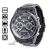 WISEUP 16GB 1920x1080P HD Mini Spion Kamera Uhr Tragbarer Überwachungskamera Armbanduhr mit Speicher und Aufzeichnung