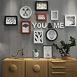 EU15 Kreative Fotowand der dekorativen Wand, Moderne unbedeutende Wohnzimmerdekoration ing photoen Buchwand photoportfolio Fotowand photoset (Color : B)