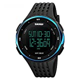 Herren Mode Sport Armbanduhr mit Countdown Stoppuhr Kalender Alarm