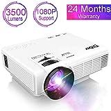 DIDAR Beamer 3500 Lumen Videobeamer Mini Video Projektor unterstützt 1080P Full HD mit max 170' Display, Verbindung mit HDMI VGA SD USB AV Gerät, Heimkino...
