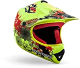 "ARMOR · AKC-49 ""Limited Yellow"" (Gelb) · Kinder-Cross Helm · Off-Road Moto-Cross Sport Motorrad Enduro Kinder · DOT certified · Click-n-Secure Clip · Tragetasche · L (57-58cm)"
