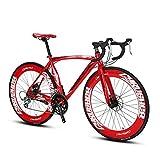 extrbici XC700 Sports Racing Road Bike 700Cx54/56cm Aluminium Legierung Rahmen 14 Speed Shimano 2400 Mans Road Bike Double Mechanische Scheibenbremsen cyrusher beliebtes Modische Rahmen Malerei