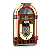 Ricatech RR2100  Jukebox  Musikbox  Musikanlage  50er Jahre Design  LED Beleuchtung  Bluetooth  CD-Player  Radio  USB  SD-Kartenslot  programmierbar  Equalizer...