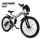 Ancheer e Bike Faltbares Mountainbike, 26 Reifen Elektrisches Fahrrad Ebike mit 250W bürstenlosem Motor und 36V 8Ah Lithium-Batterie Shimano 21-Gang