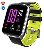 Smartwatch,YAMAY Bluetooth Smart Watch Uhr mit Pulsmesser Armbanduhr Wasserdicht IP68 Fitness Tracker Armband Sport Uhr Fitnessuhr mit Schrittzähler,Schlaf-Monitor,Setz-Alarm,Stoppuhr,SMS-, Anruf-Benachrichtigung Push/Kamera-Fernsteuerung Musik für Android und iOS Telefon