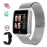 Smartwatch Herren, GOKOO Smart Uhr Stylische IP67 Wasserdicht Sportuhren Männer Jungen Aktivitätstracker mit Pulsmesser Kalorienzähler Schlaftracker 8...