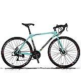 HECHEN 700C Fahrrad - 21-Gang-Rennrad-Scheibenbremsen - Rennsportwagen für männliche und weibliche Studenten,A