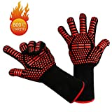 yotame Grillhandschuhe, Hitzebeständige Ofenhandschuhe 1472°F (800°C) Anti-Rutsch KochenHandschuhe Silikon Extra Langen Manschetten Hitzefeste Handschuhe...