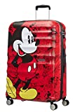 American Tourister - Disney Wavebreaker - Spinner Kindergepäck, 77 cm, 96 L, Mickey Comics Red
