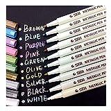 Audel MP001 Metallische Markierstifte, Set mit 10 verschiedenen Farben
