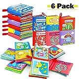 Stoffbuch für Babys, Soft-Bilderbuch Baby Spielzeug Pädagogisches Kleinkindspielzeug Baby Buch zur Stärkung der Eltern-Kind-Beziehung ab 3 Monaten (Packung...