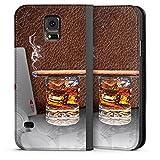 DeinDesign Leder Flip Case kompatibel mit Samsung Galaxy S5 Tasche Hülle Zigarre Whiskey Whisky