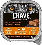 CRAVE Premium Pastete, für Hunde - Getreidefreies Adult Nassfutter in der Schale