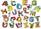 INDIGOS UG - Holzbuchstabe - E - für Kinder und Babys - Motiv Tiere für das Kinderzimmer, Schule, Kindergarten, zum Spielen, Basteln und Sammeln