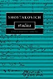 Shostakovich Studies (Cambridge Composer Studies)