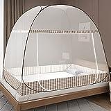 Moskitonetz Bett Pop Up, Faltbares Bett-Moskitonetz, Tragbares Reise-moskitonetz, Moskito-Campingzelt für Schlafzimmer Outdoor Camping, Einfache Installation,...