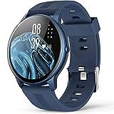Smartwatch, AGPTEK 1,3 Zoll Armbanduhr mit personalisiertem Bildschirm, Musiksteuerung, Herzfrequenz, Schrittzähler, Kalorien, usw. IP68 Wasserdicht Fitness...