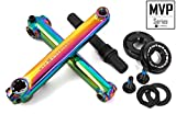 KHE MVP BMX Kurbel-Set 8T US BB CrMo 19mm Achse 170mm Arme Oil-Slick Jet-Fuel - R1