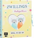 Zwillings-Babyalbum – Hurra, ihr seid da!: Mit vielen Extras zum Ausfüllen, Einkleben und Sammeln (inkl. Liederbüchlein, Girlande, Kuverts und ausklappbarer...