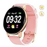 GOKOO Smartwatch Fitness Tracker Armband Damen Herren Full-Touchscreen IP67 Wasserdicht Aktivitätstracker mit Pulsmesser Schrittzähler Kalorienzähler für...