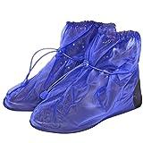 PERLETTI wasserdichte Schuhüberzieher aus PVC - stabil und wiederverwendbar - mit Rutschfester und verstärkter Sohle - Galoschen für Regen, Schnee und Matsch...