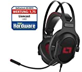 Lioncast LX60 USB Gaming Headset für PC, PS4, Xbox One, Nintendo Switch, Mac, Laptop, Smartphone, Stereo und 7.1 Virtual Surround Sound, RGB-LED-Beleuchtung,...