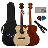 BLKykll Akustikgitarre – 40 Zoll Westerngitarre Natur,Akustikgitarre Für Einsteiger in Edlem Design Ideale Geburtstags