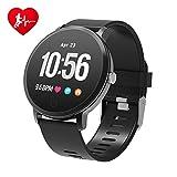 BingoFit Fitness Armbanduhr Wasserdicht Smart Watch Fitness trackers Sport Uhr mit Schrittzähler, Pulsmesser, Kamerasteuerung, Musiksteuerung, Schlaf-Monitor,...