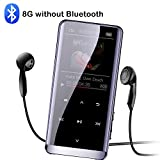 ningxiao586 Mini-MP3 mit Bluetooth, verlustfreier MP4-Player, MP4-Player, 1,8-Zoll-OLED-Display