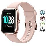 HAFURY Gesundheits Smartwatch, Armbanduhr mit Pulsuhr Fitness Tracker, Sportuhr mit Schrittzähler-Schlafmonitor-Stoppuhr für Damen Herren und...