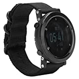 Multifunktionale Elektronische Armbanduhr Klettern Tauchen Laufen Sportuhr mit Kompass Höhenmesser Barometer Thermometer für Männer(schwarz)