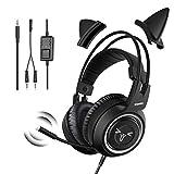 SOMiC Gaming-Kopfhörer für Xbox One, Stereo-Surround-Sound mit Geräuschunterdrückung, abnehmbares Katzenohr-Headset mit Inline-Steuerung für Jungen und...