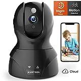 Wlan IP Kamera,KAMTRON HD WiFi Überwachungskamera,mit 350°/100°Schwenkbar,Home und Baby Monitor mit Bewegungserkennung, Zwei-Wege-Audio, Nachtsicht,...