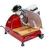 Palatina Werkstatt ® / Berkel Red Line 250 | Allesschneider/Aufschnittmachine | rot | + handgefertigtes Fassholzbrett aus alten Weinfässern | VK:1148,-€