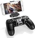 Gaminger Clip Halterung für Smartphones/Handy wie iPhone Samsung Galaxy HTC Huawei LG für Playstation 4 Controller/Kontroller