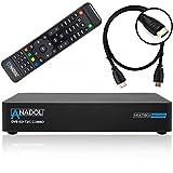 Anadol Multibox 4K UHD E2 Linux Combo Sat- Kabel- DVB-T2 Receiver mit DVB-S2 und DVB-C/T2 Tuner, HDTV, 2160p, H.265, PVR, HDR, mit HDMI Kabel [vorprogrammiert...