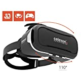 """celexon Virtual-Reality 3D VR-Brille mit Headset Professional VRG-2 - für alle Smartphones von 3,5"""" - 5,7"""" - 240g - ideal auch für Brillenträger"""