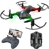 ATOYX Drohne mit Kamera, Drohne Faltbare mit WiFi FPV 720 HD App, Höhenlage halten, Headless-Modus, EIN Startschlüssel und RTF-Schwerkraftlandung,, Schwarz...