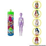 Barbie GTP41 - Color Reveal Puppen Thema Snacks und Süßes, mit 7 Überraschungen, inkl. Parfümierter Perücke, Spielzeug ab 3 Jahren