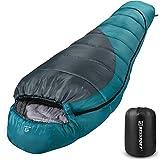Bessport Schlafsack Winter   -9°C und 0℃ Outdoor Mumienschlafsack für Camping und Bergsteigen mit Ultraleichter und Ultrakompakter 100% Sprüh Gebundene...