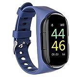 M1 smart Watch Armband Bluetooth kopfhörer, creamon m1 smart Watch Armband Bluetooth kopfhörer Zwei in einem Sport Armband Fitness Tracker pulsmesser blau